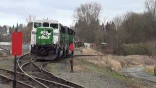 Two Train Meet @ Snohomish Junction