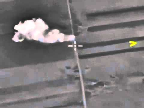 Air strikes on militant positions at the entrance to the village ISIS  Maaret En NUUMAN