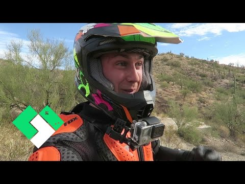 🌵 His First Dirt Bike Ride In The Desert! 🌵