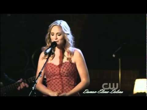 Candice Accola - The Vampire Diaries - Caroline Singing for Matt