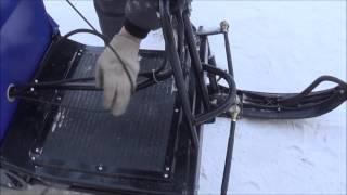Установка лыжного модуля на буксировщик ЛИДЕР