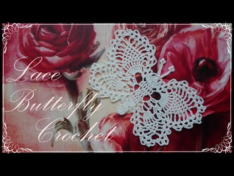 Crochet butterfly lace