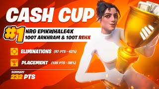 1ST PLACE In Trio Cash Cup w/ Arkhram & Rehx 💸 (Fortnite Trio Cash Cup Highlights)   NRG EpikWhale