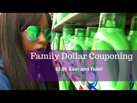 Family Dollar $5 Off $25.  All Digital Couponing.  $2.95 Gain And Tide!! Glitch.   Fall Shop With Me