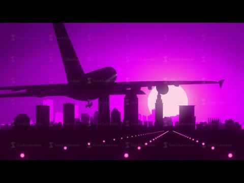 Cleveland Ohio Violet Purple USA America Skyline Sunrise Landing