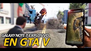 Samsung Galaxy Note 7 explora en GTA V
