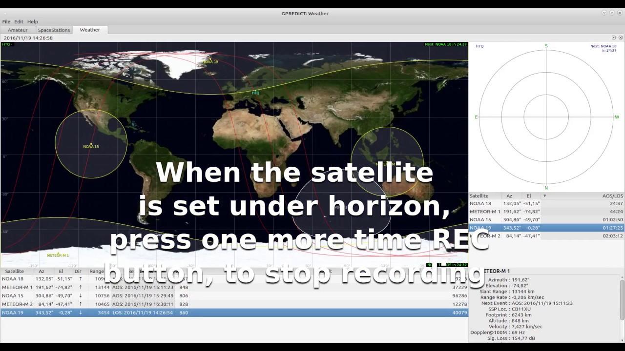 Decoding NOAA weather satellite with RTL-SDR GQRX and WXtoimg -Tutorial