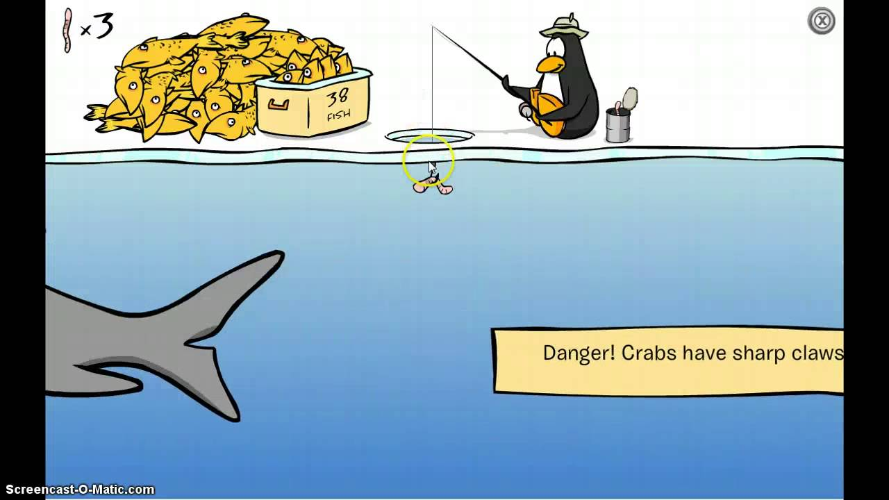 how to catch the mullet on club penguin