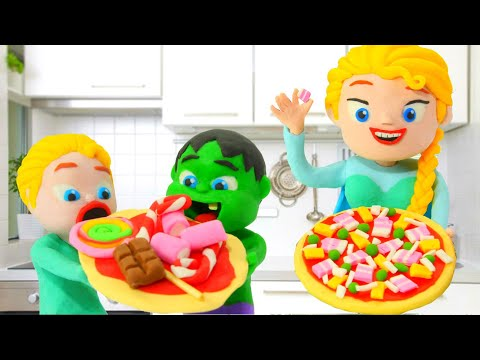 Tommy And His Friends Cooking Pizza 💕Play-Doh Cartoons For Kids