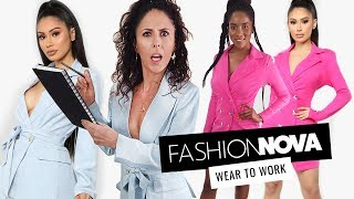 "Trying on Fashion Nova ""Wear to Work"" Outfits"