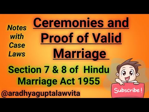 Ceremonies and Proof of Valid Hindu Marriage||Section 7 ...
