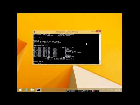 Windows command prompt tutorial 2 - making folders, deleting folders, creating and deleting files