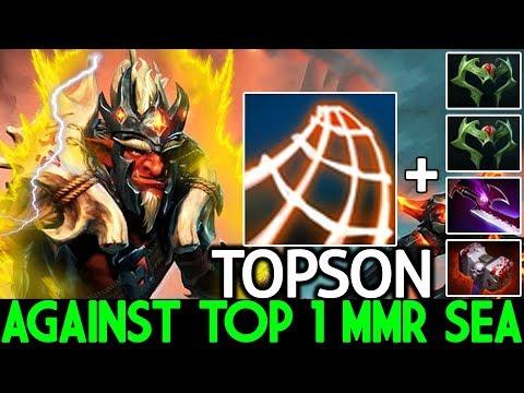 TOPSON [Troll Warlord] Raid Boss Against Top 1 MMR SEA 7.24 Dota 2