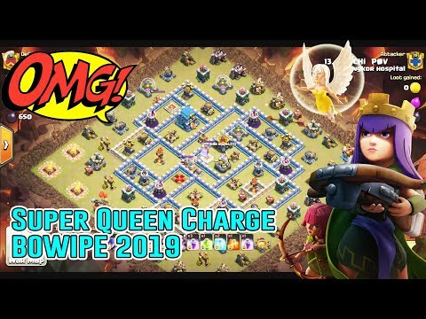 OMG!! SUPER QUEEN CHARGE+BOWIPE ATTACK 2019 - 3 STARS TH12 ( Clash of Clans )