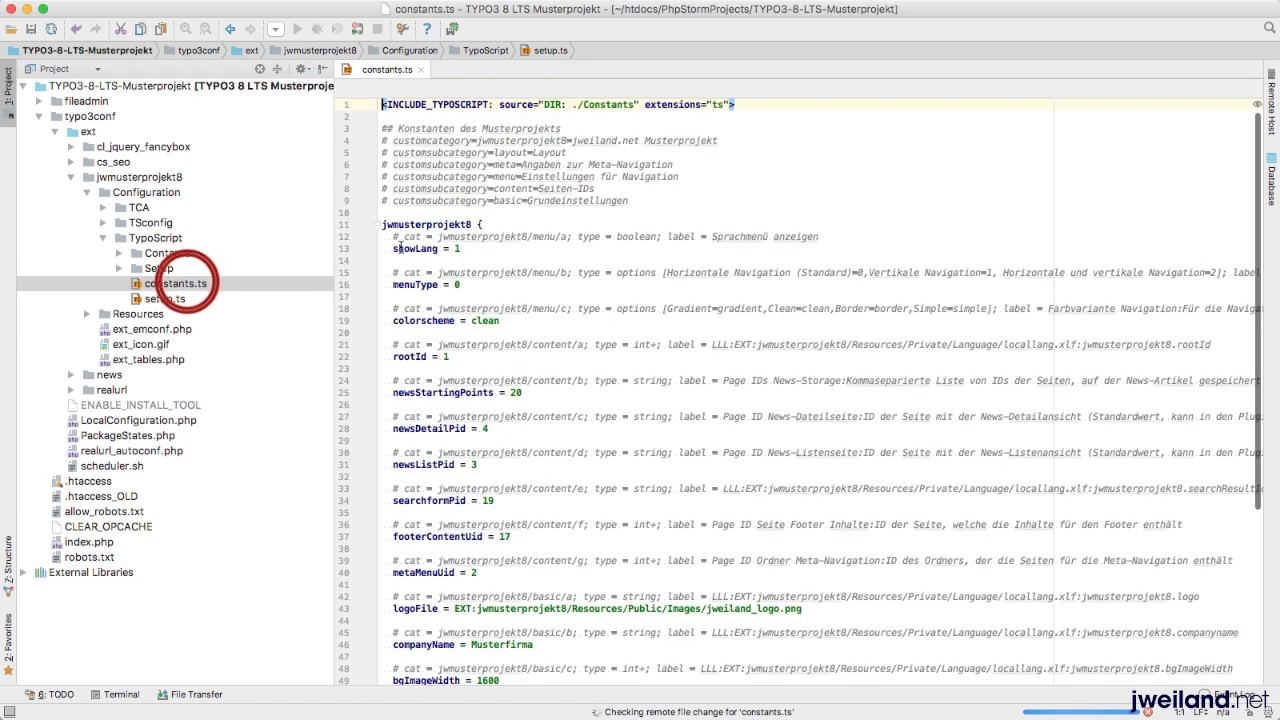 TYPO3 8 LTS Musterprojekt 06 Die Template Extension im Überblick ...