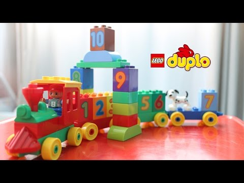 LEGO Duplo 10558 Number Train - Happy David Unboxing and Playing