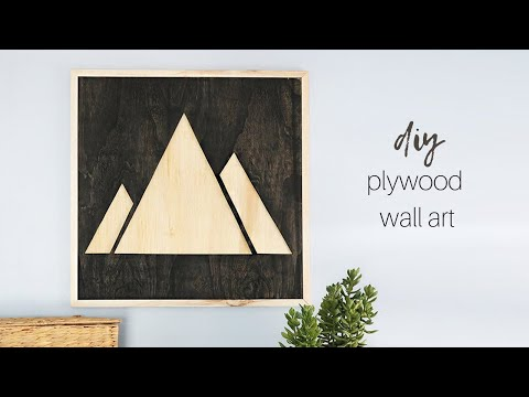DIY Plywood Mountain Wall Art