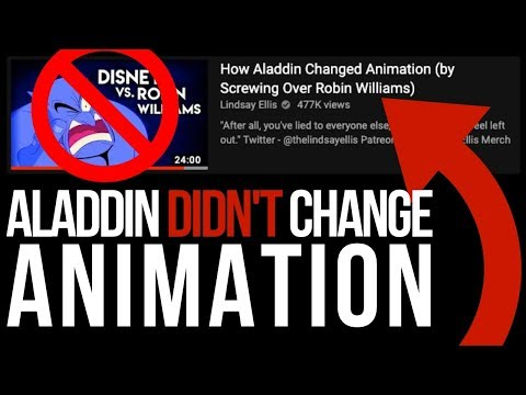 Aladdin DIDN'T Change Animation-  Audiences Did