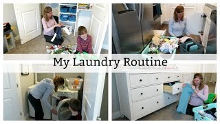 LAUNDRY ROUTINE 2019 FOR A FAMILY OF FOUR! // THE JOYFUL MOM