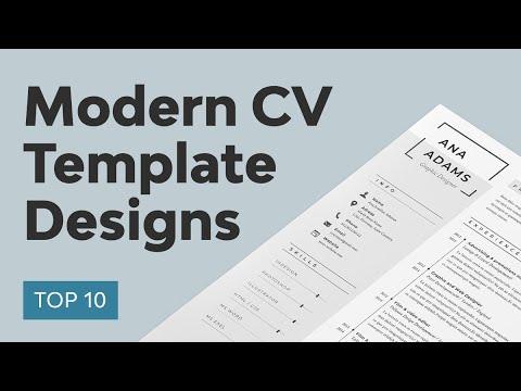 10 Best Modern Resume Template Designs