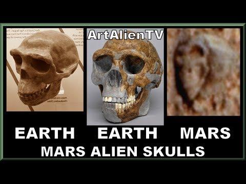 Mars Amazing Alien Humanoid Skulls: Curiosity Rover. ArtAlienTV - 1080p