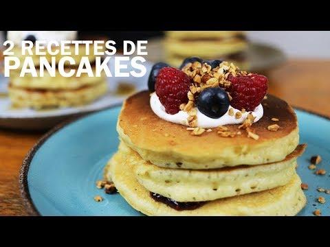 2-recettes-de-pancakes-moelleux,-facile-et-rapide