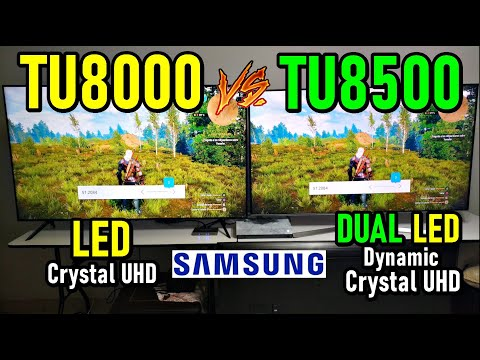Samsung TU8000 vs TU8500: Crystal UHD LED vs Dynamic Crystal UHD DUAL LED - TELEVISORES SMART
