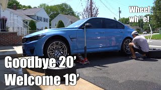 I bough new wheels for my F80 BMW M3  (goodbye 20 inch; hello 19)
