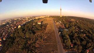 Changing the antenna of the television tower in Ruse, Bulgaria