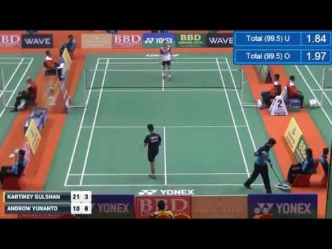 Syed Modi 2017 Day1 MS   Androw YUNANTO vs Kartikey GULSHAN KUMAR