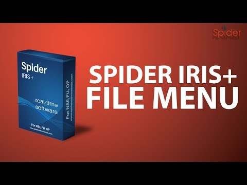 How to use Spider Software Iris Plus : File Menu | Hindi | Complete Tutorial thumbnail