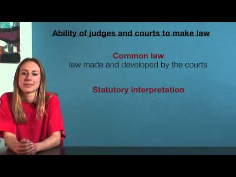 VCE Legal Studies - Ability of judges and courts to make law