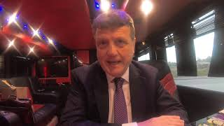 A message from Gerard Batten on the UKIP EU campaign battle bus