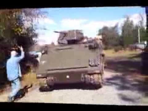 APC M113 maneuvering  at the Vietnam War Foundation Museum