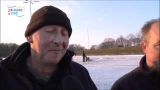 Winterpret op de IJsbaan in Heiligerlee
