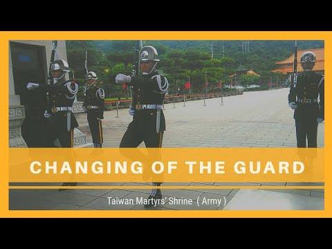 【第一次觀看雨備!!!】台北忠烈祠的陸軍儀隊雨備交接│Taiwan Martyrs' Shrine Guard Mounting(Army)│台湾衛兵交代式│대만 충렬사 육군 위병 교대식