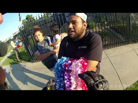 Body cam footage of Perris arrest of flower vendor (Video 2)