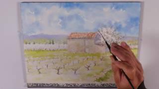 Les 4 saisons à l'aquarelle : Le printemps (watercolor tutorial)