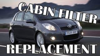 Toyota Yaris Cabin Filter Replacement - Замена Салонного Фильтра Тойота Ярис