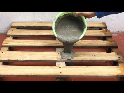 creative-ideas-from-wood-pallet-and-cement-.technique-making-coffee-table-.-cement-craft-ideas