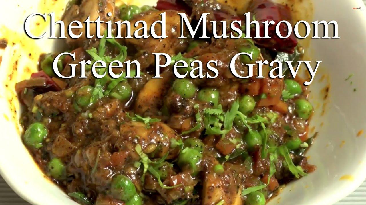How to make Chettinad Mushroom Green peas gravyRed pix Good