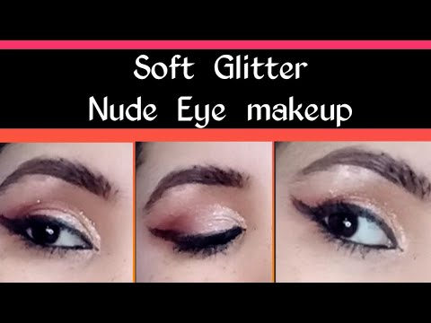 soft glam nude eye makeup for beginners  eyeshadow