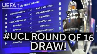 2020/21 UEFA Champions League Round of 16 draw!