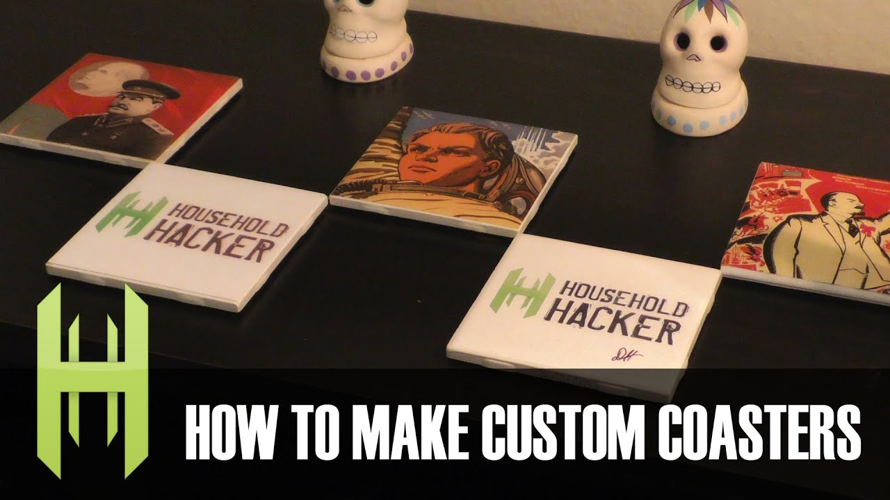 diy custom drink coasters youtube