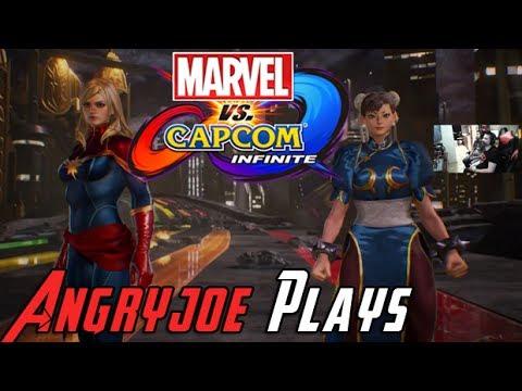 AngryJoe Plays Marvel Vs Capcom Infinite Story DEMO! - 동영상
