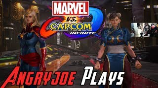 AngryJoe Plays Marvel Vs Capcom Infinite Story DEMO!
