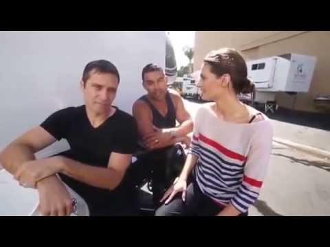 Stana Katic, Jon Huertas, Seamus Dever  Ice Bucket ALS Challenge Rus sub