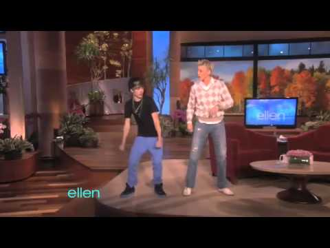Justin Bieber teaches Ellen how-to hit that Cat Daddy
