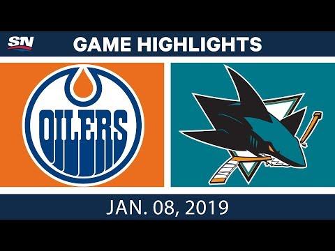 NHL Highlights | Oilers vs. Sharks - Jan. 8, 2019