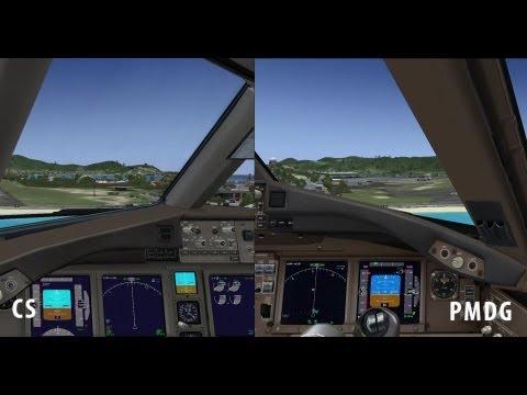 FSX - PMDG 777 vs  Captain Sim 777   FunnyCat TV